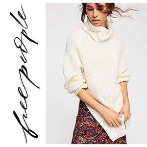 free people ivory cream eleven turtleneck sweater